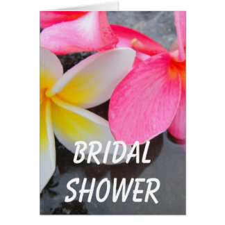 Frangipani Fever Bridal Shower Card