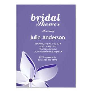 Frangipani Flower Bridal Shower Invitation