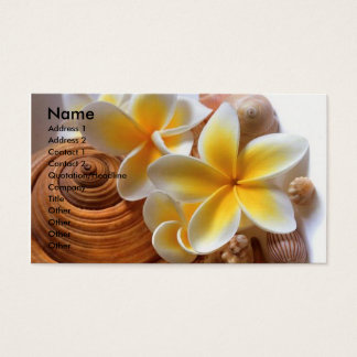 Frangipani flower business card