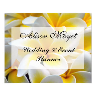 Frangipani flower Event Planner Flyer