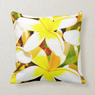 frangipani flower pillow/cushion throw pillow