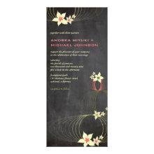 Frangipani Flower Pink Tropical Chalkboard Wedding Personalized Invitation