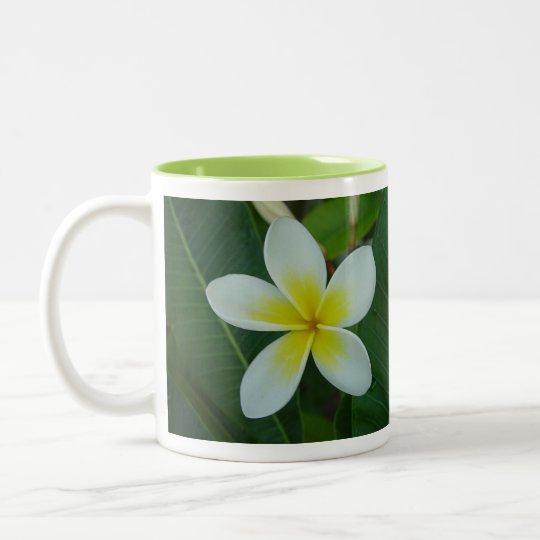 Frangipani Flower Two-Tone Coffee Mug