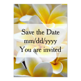 Frangipani flower Wedding Card