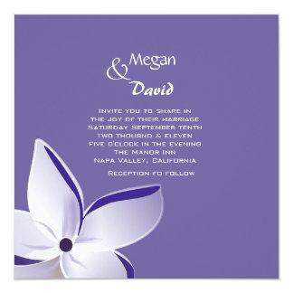 Frangipani Flower Wedding Invitation