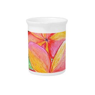 Frangipani Flowers Beverage Pitcher