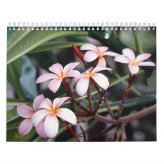 Frangipani Flowers Calendar