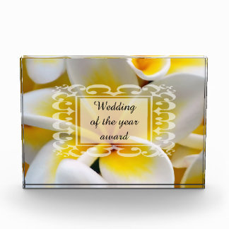 Frangipani flowers event planner acrylic award