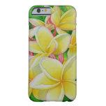 Frangipani hawaiano funda de iPhone 6 barely there