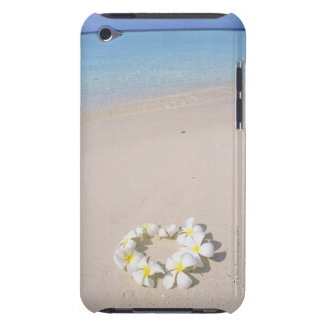 Frangipani on the beach iPod touch case