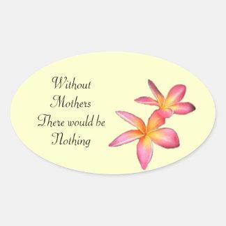 Frangipani Oval Sticker
