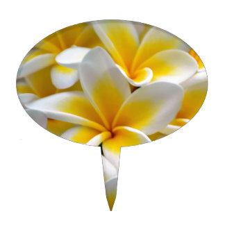 Frangipani Plumeria Flower Photo Cake Topper