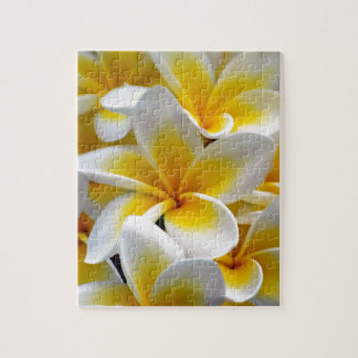 Frangipani Plumeria Flower Photo Jigsaw Puzzle