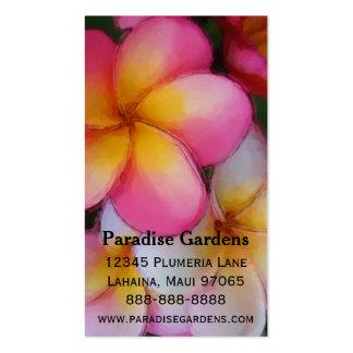 Frangipani Plumeria Flowers Business Card Template