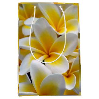Frangipani Plumeria flowers Medium Gift Bag