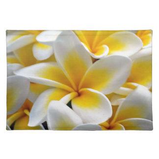 Frangipani Plumeria flowers Placemat