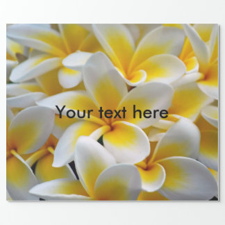Frangipani Plumeria flowers Wrapping Paper