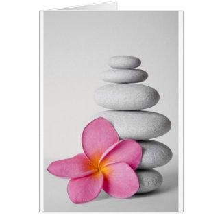 Frangipani Zen Greeting Card