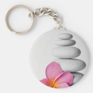 Frangipani Zen Keychain