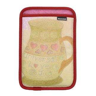 franja roja universal del diseño del jarro del fundas para iPad mini
