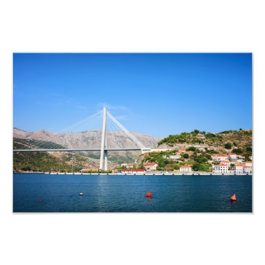 Franjo Tudjman Bridge in Dubrovnik Photo Print
