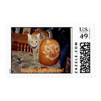 Frank at Halloween Postage