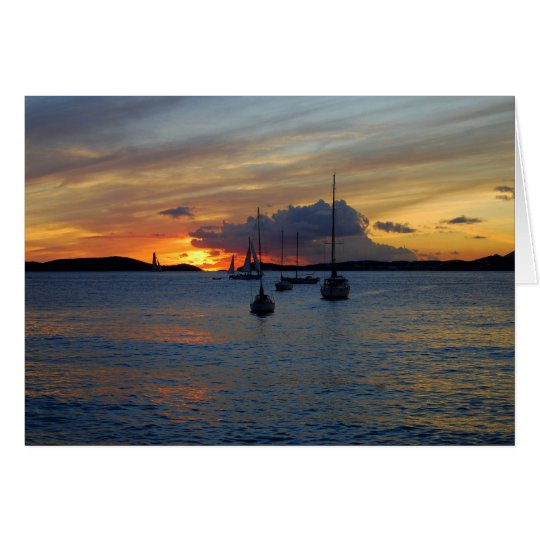 Frank Bay Sunset, St. John, U.S. Virgin Islands Card