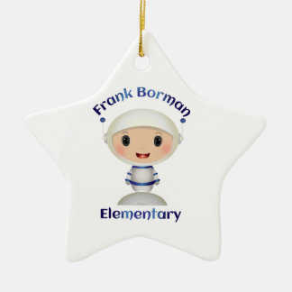 Frank Borman Elementary Astronaut Name Image Ceramic Ornament