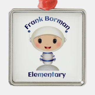 Frank Borman Elementary Astronaut Name Image Metal Ornament