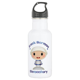 Frank Borman Elementary Astronaut Name Image 18oz Water Bottle