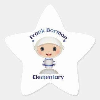 Frank Borman Elementary Astronaut Name Image Star Sticker