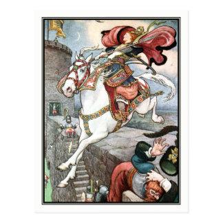 Frank C. Papé Pape - Vintage Lady on Horse Postcard