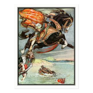 Frank C. Papé Pape - Vintage Lord on Horse Postcard