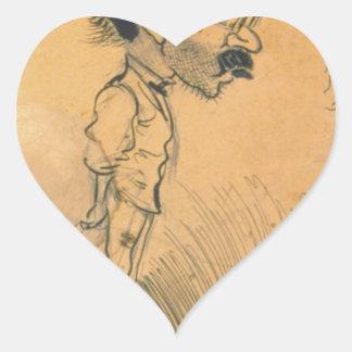 Frank Crane by George Luks Heart Sticker
