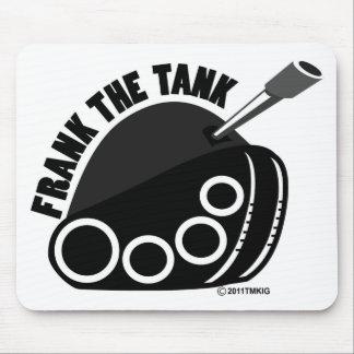 Frank el cojín de ratón del logotipo del tanque tapetes de ratones