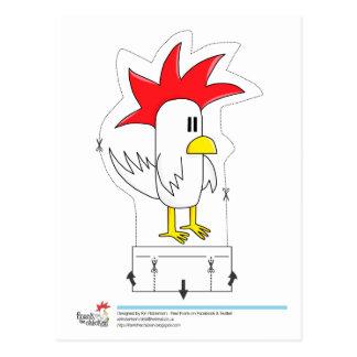 Frank el pollo - postal cortada