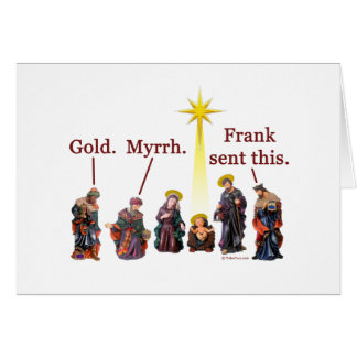 Frank envió esto - la tarjeta de Navidad