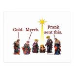 Frank envió esto tarjeta postal
