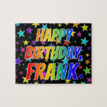 "[ Thumbnail: ""Frank"" First Name, Fun ""Happy Birthday"" Jigsaw Puzzle ]"