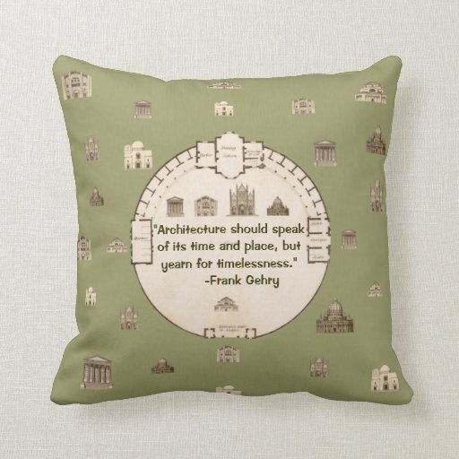 Frank Gehry Vintage Architecture John Plaw Pillow