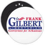 Frank Gilbert para el gobernador Pin Redondo 15 Cm