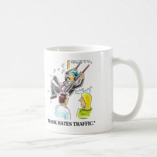 FRANK HATES TRAFFIC COFFEE MUG