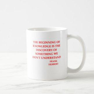 frank herbert quote coffee mug