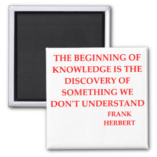 frank herbert quote 2 inch square magnet