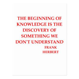 frank herbert quote postcard