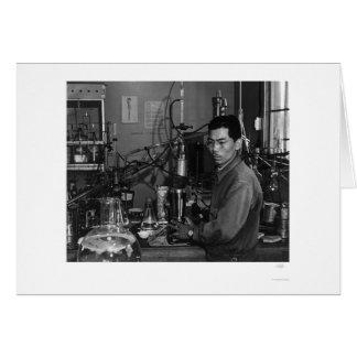 Frank Hirosawa In Laboratory 1943 Card