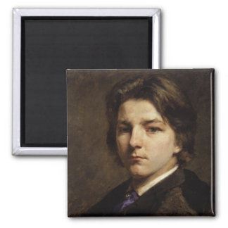 Frank Holl Self Portrait As A Young Man 2 Inch Square Magnet