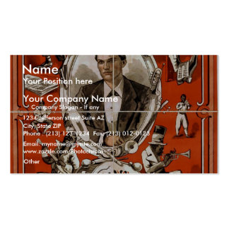 Frank Jones, 'The Musical Moke' Retro Theater Double-Sided Standard Business Cards (Pack Of 100)