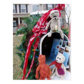 Frank Leo and Mandarin Christmas Time Mailbox Postcards