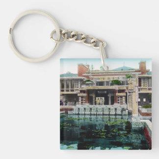 Frank Lloyd Wright Imperial Hotel Japan Vintage Keychain